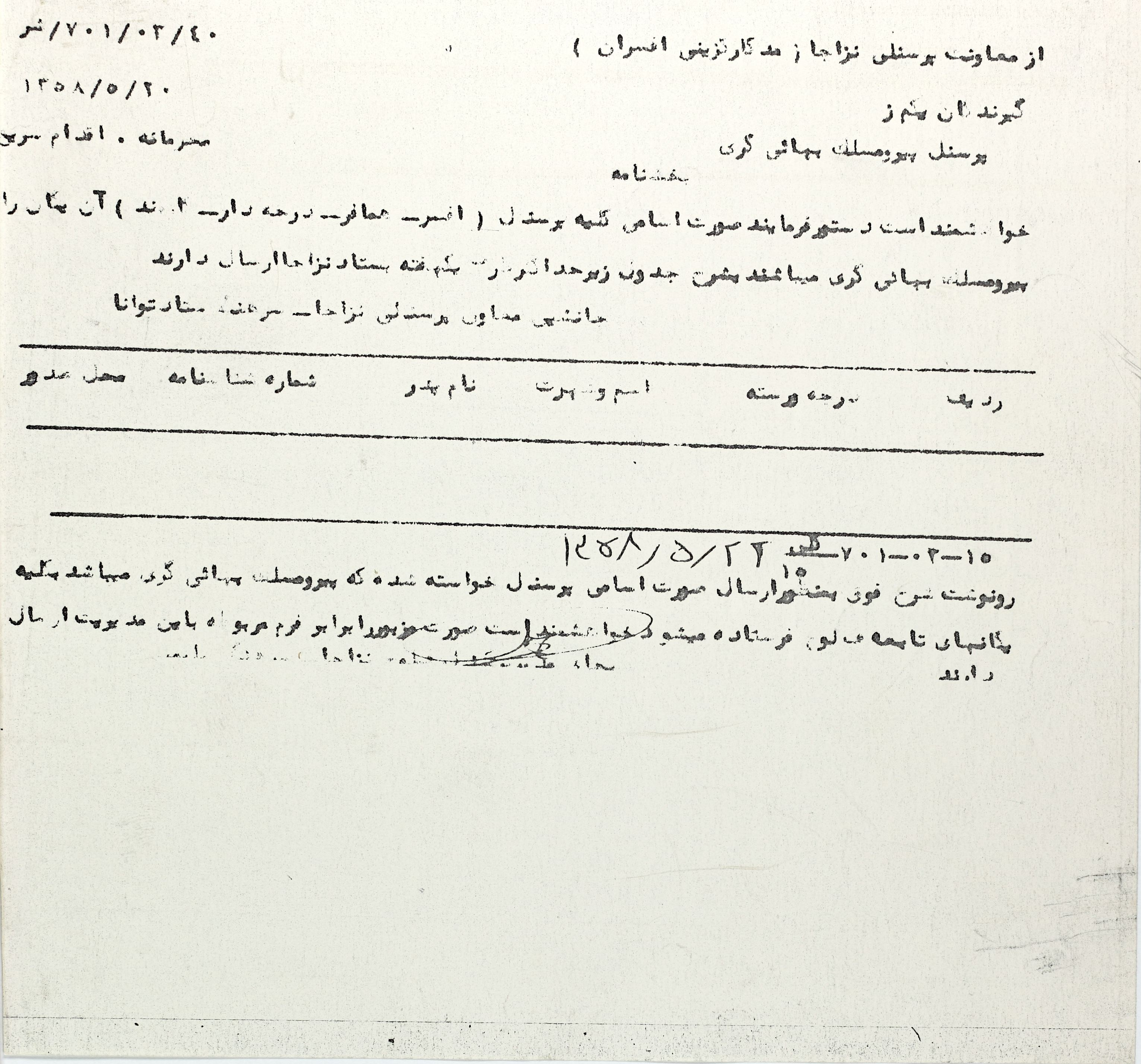 Request for names of Baha is in military service